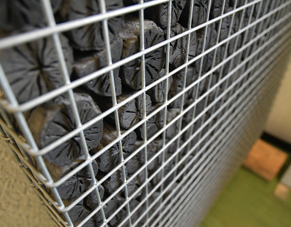 木炭のディスプレイ